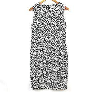 Calvin Klein Thick Knit Leopard Sheath Dress